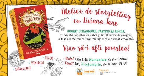 Atelier de Storytelling pentru copii cu Liviana Tane
