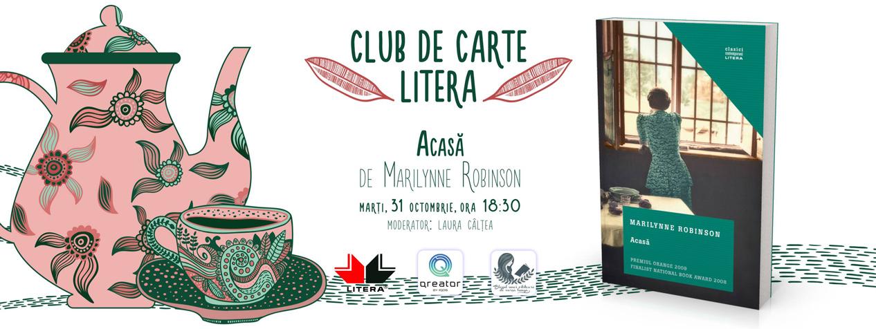 """Club de carte Litera #35: """"Acasă"""", de Marilynne Robinson"""