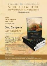 Seară italiană la Humanitas Kretzulescu dedicată lui Dino Campana