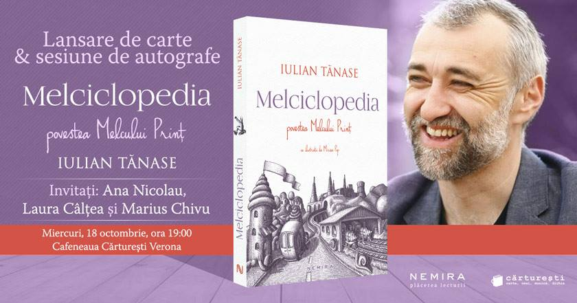 """Lansare de carte: """"Melciclopedia"""", de Iulian Tănase"""