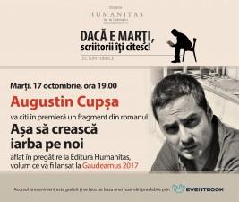 Augustin Cupșa, lectură în premieră la Humanitas Cișmigiu