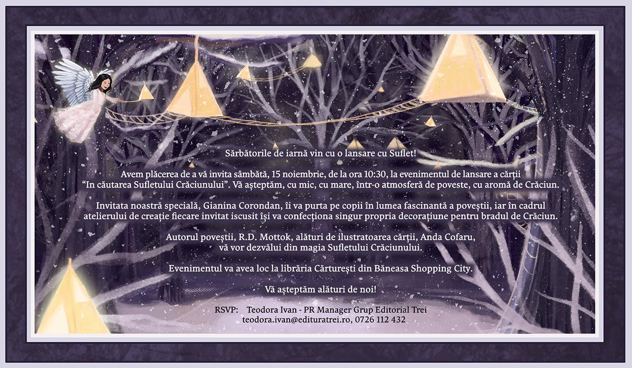 """Lansare carte """"În căutarea Sufletului Crăciunului'"""""""