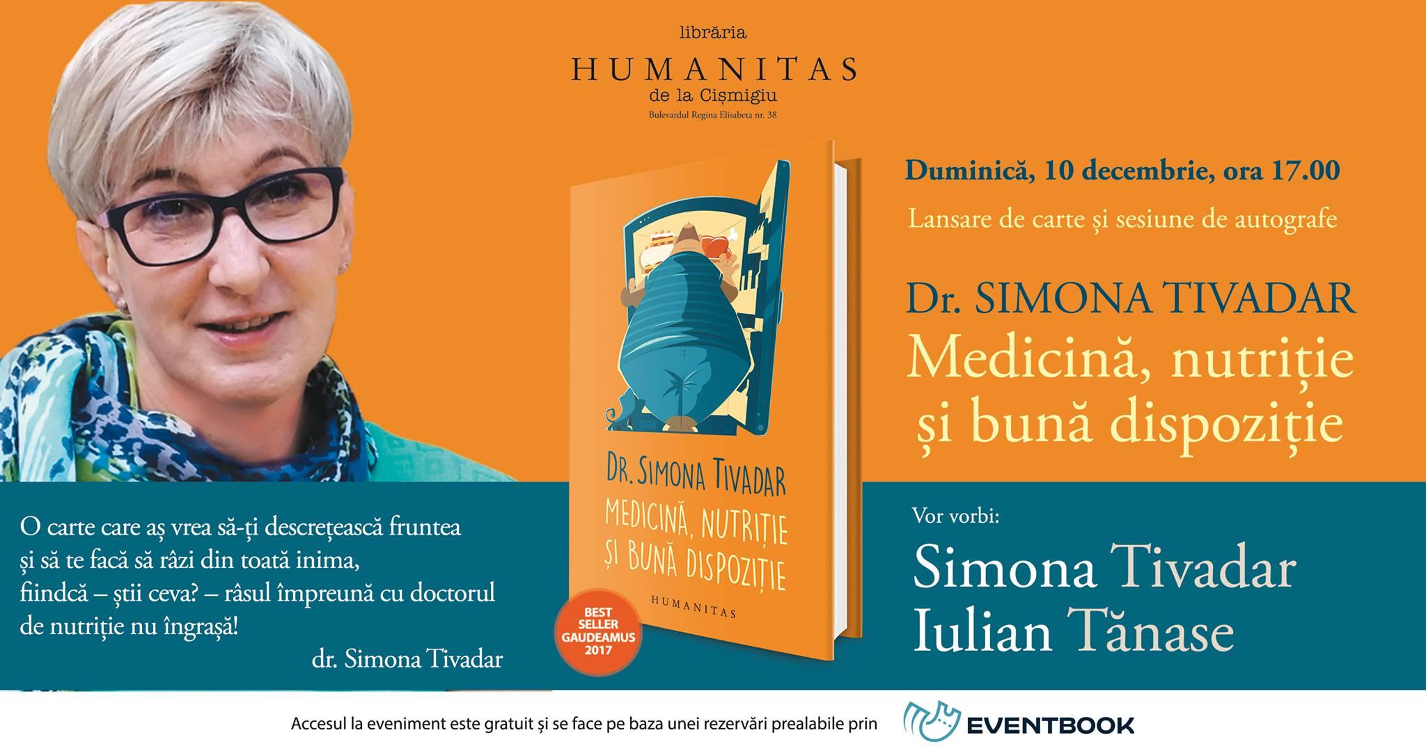 Medicină, nutriție și bună dispoziție cu Simona Tivadar