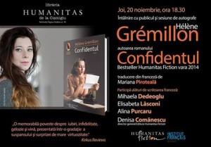 Hélène Grémillon la Librăria Humanitas Cișmigiu