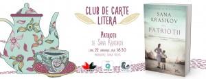 "Club de carte Litera #38: ""Patrioții"", de Sana Krasikov"