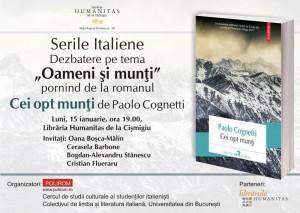 """Seară Italiană - """"Oameni şi munţi"""", de Paolo Cognetti"""
