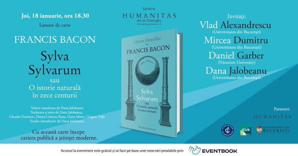 "Lansare eveniment: Francis Bacon, ""Sylva Sylvarum"""