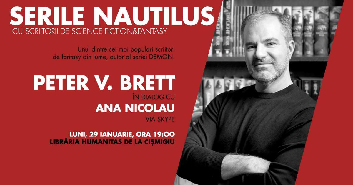 Serile Nautilus: Peter V. Brett în dialog cu Ana Nicolau