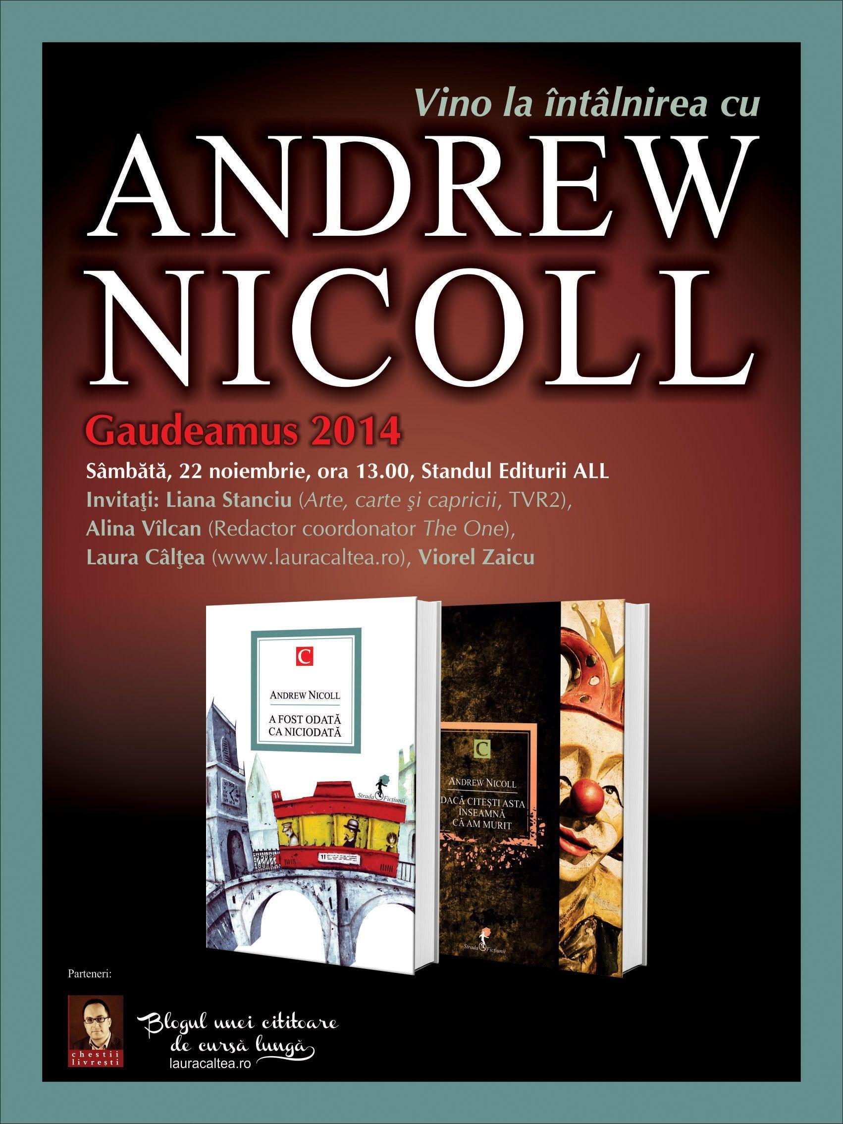 Andrew Nicoll vine în România la invitația Editurilor ALL