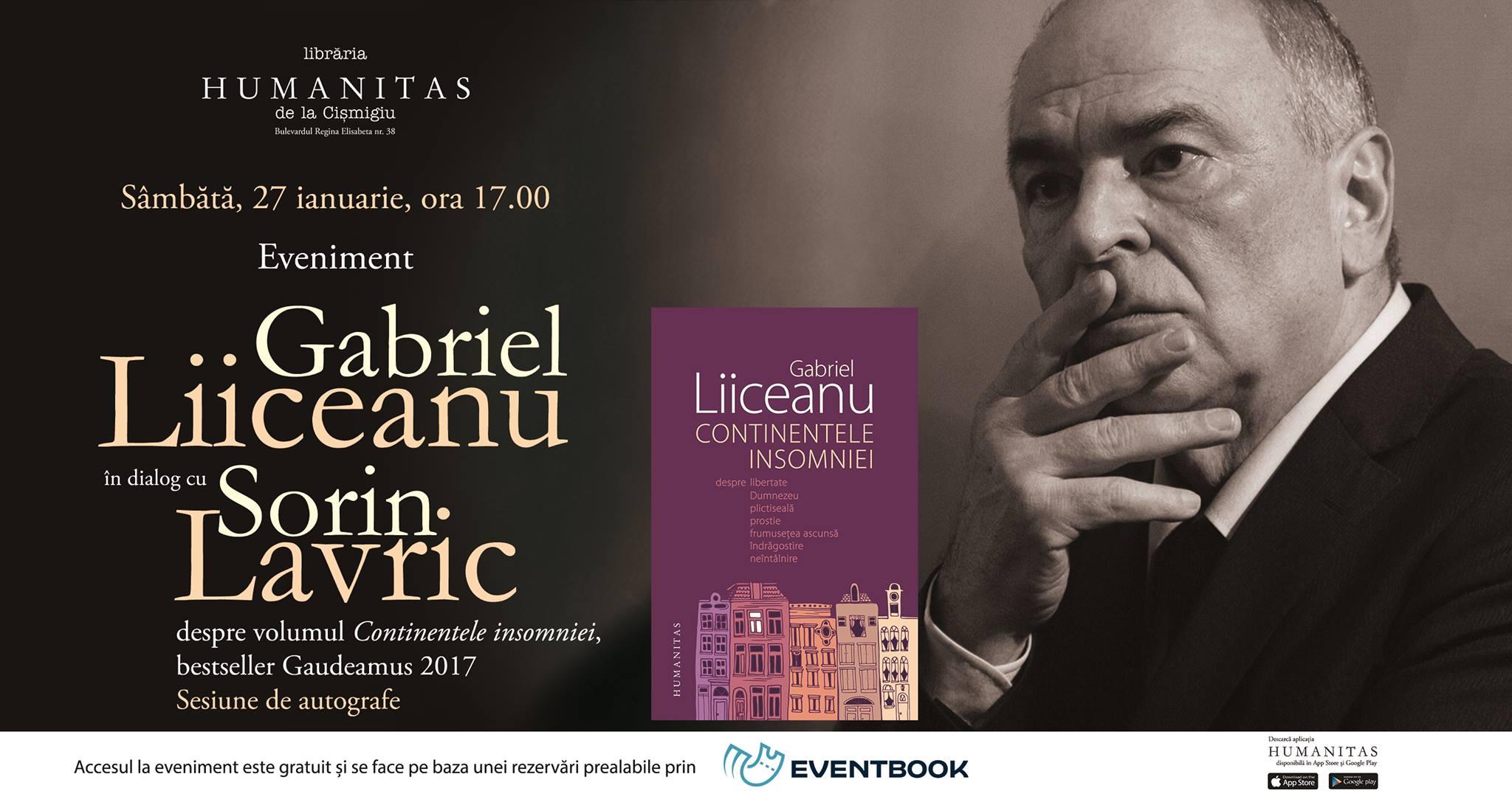 Gabriel Liiceanu în dialog cu Sorin Lavric