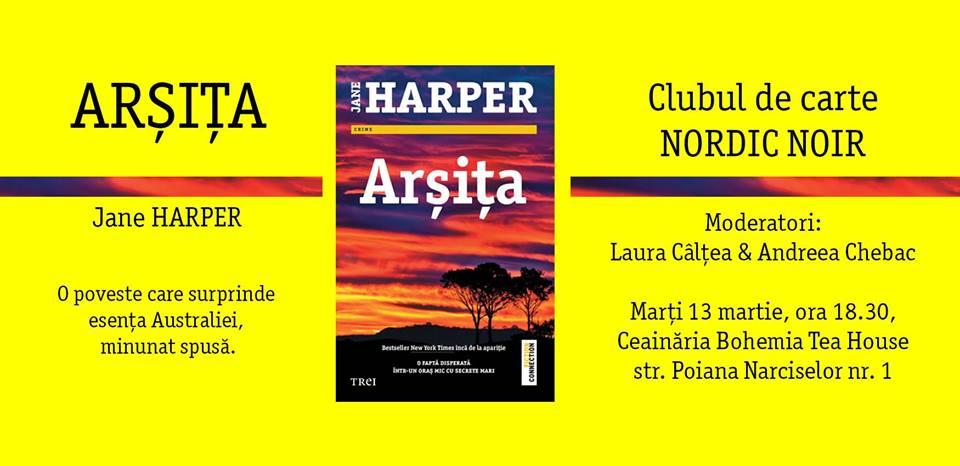 """Clubul de carte Nordic Noir: """"Arșița"""", de Jane Harper"""