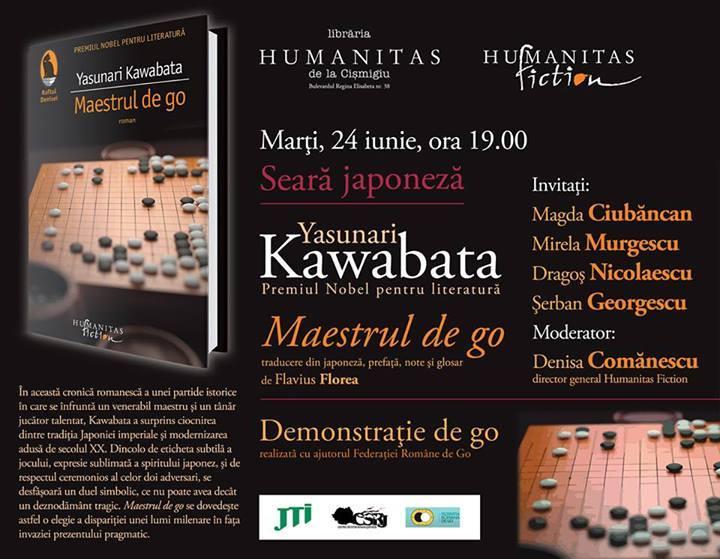 Seară japoneză - Maestrul de go, Yasunari Kawabata