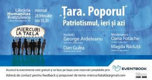 """Miercuri la Takla: """"Țara. Poporul"""" Patriotismul, ieri și azi"""