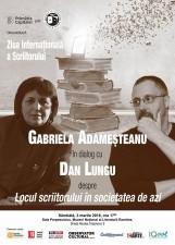 Gabriela Adameșteanu în dialog cu Dan Lungu