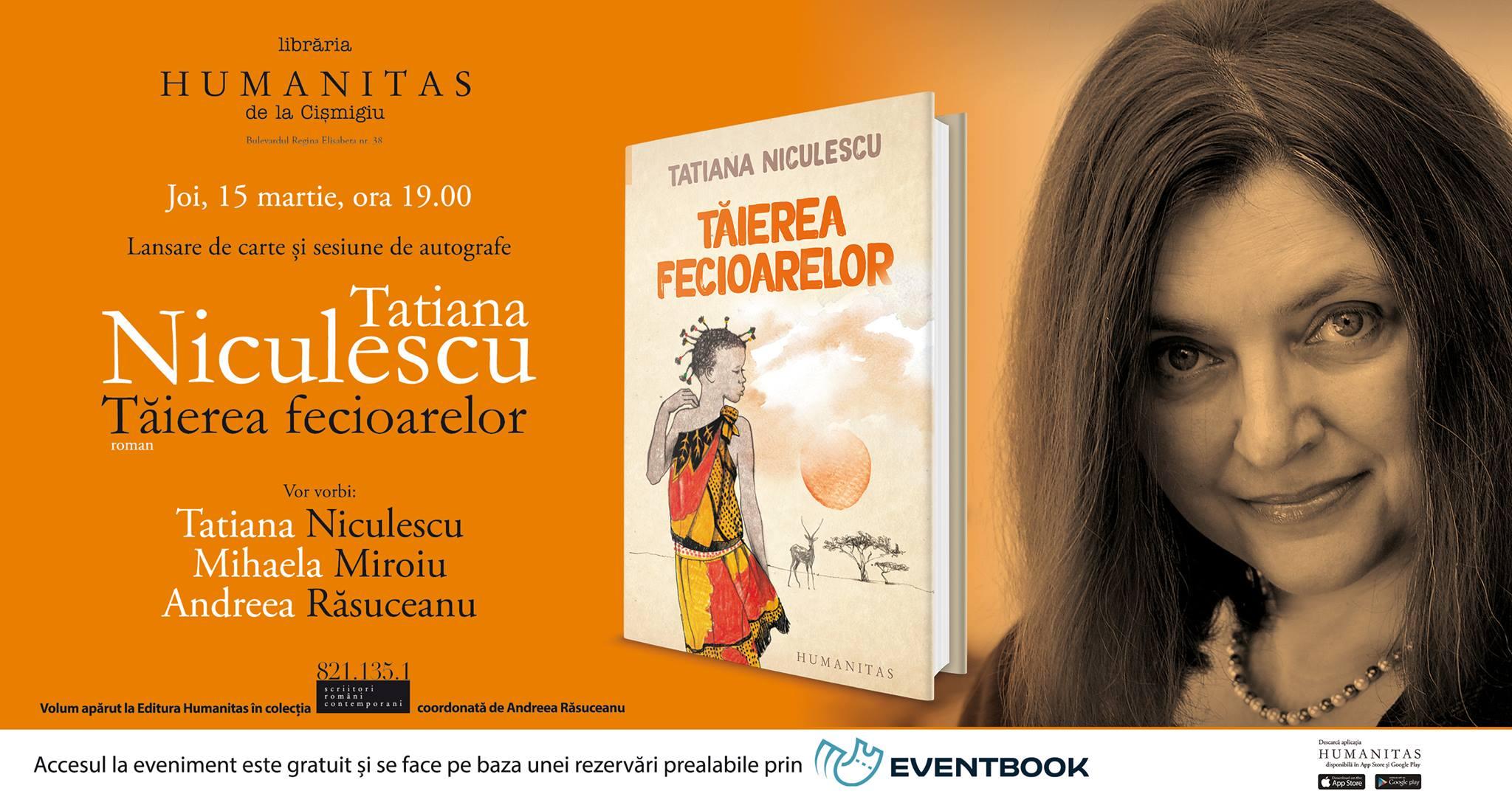 """Lansare de carte """"Tăierea fecioarelor"""" de Tatiana Niculescu"""