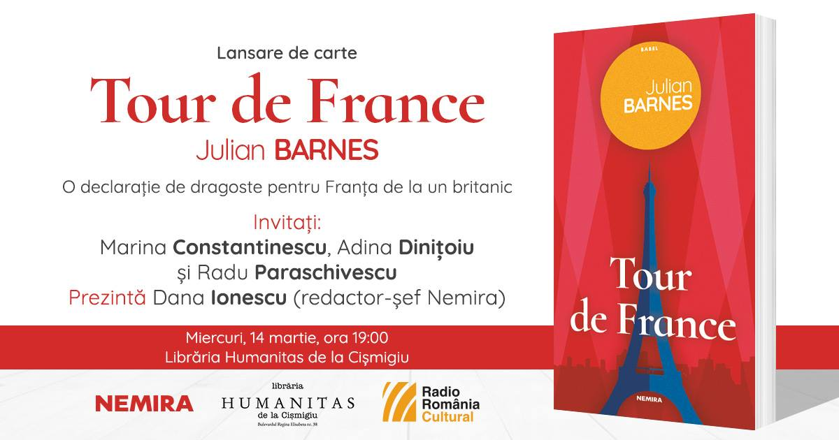 "Lansare de carte: ""Tour de France"", de Julian Barnes"