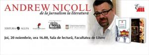 Andrew Nicoll, de la jurnalism la literatură