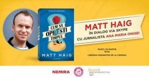 Matt Haig în dialog cu jurnalista Ana-Maria Onisei