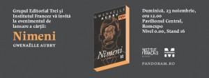 """Lansarea romanului """"Nimeni"""" de Gwenaëlle Aubry"""