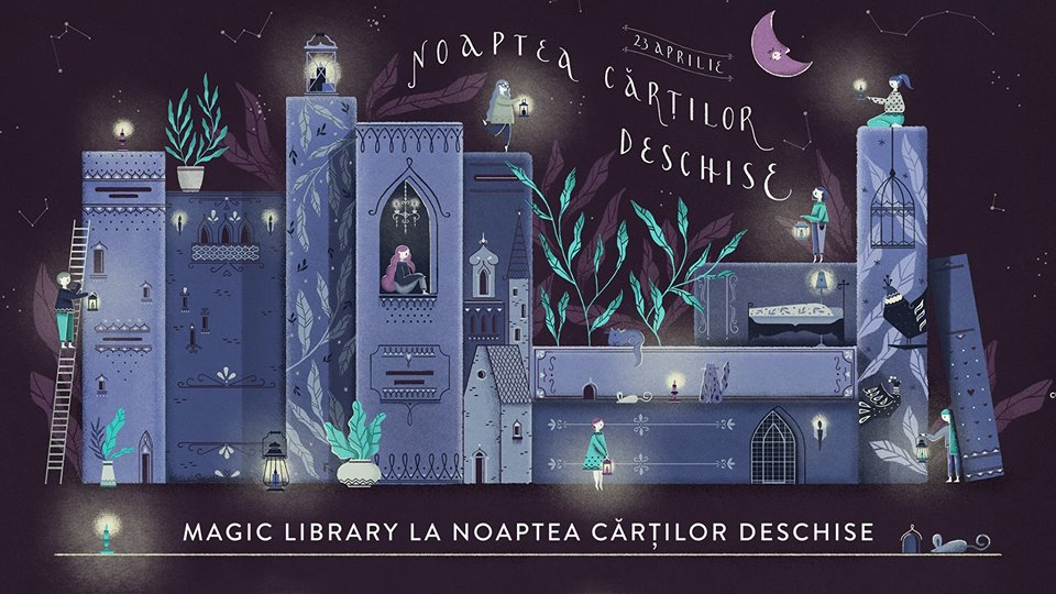 Magic Library la Noaptea Cărților Deschise!