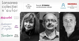 """Lansarea colecției de literatură română contemporană """"n'autor"""""""