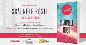 """Lansare de carte: """"Scăunele roșii"""", de Edna O'Brien"""