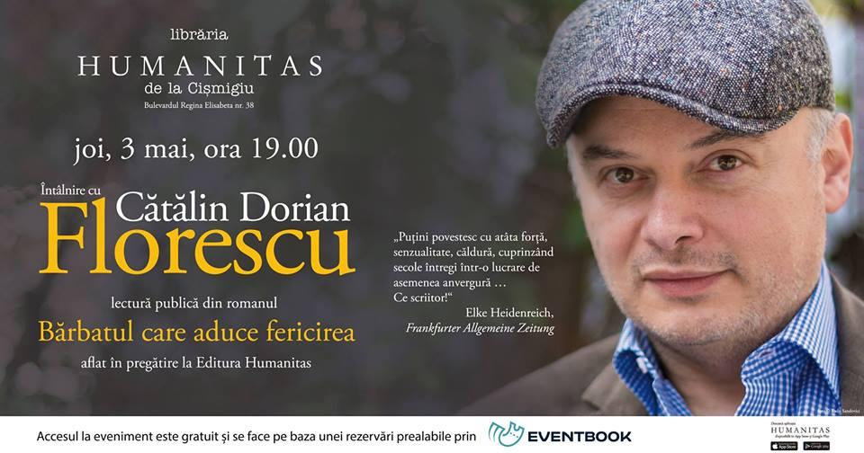 Eveniment Cătălin Dorian Florescu – lectură în premieră