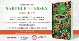 """Lansare de carte: """"Șarpele din Essex"""", de Sarah Perry"""