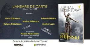 "Lansare ""Jurnal necenzurat"" de Vaslav Nijinski"