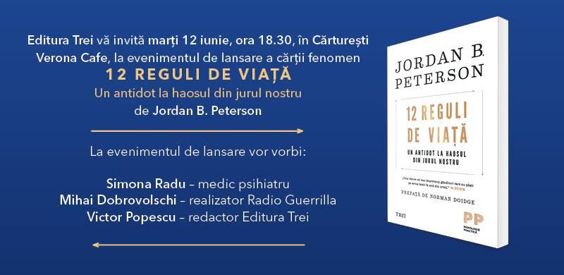 """Lansare de carte: """"12 Reguli de viață"""", de Jordan B. Peterson"""