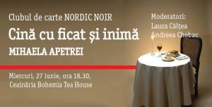 """Clubul de carte NordicNoir: """"Cină cu ficat și inimă"""", de Mihaela Apetrei"""