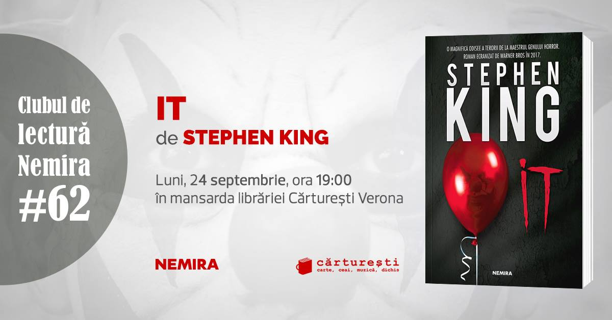 "Club de lectură #62: ""It"", de Stephen King"