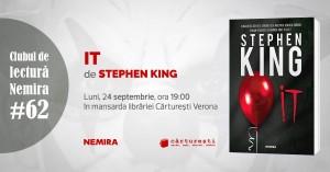 """Club de lectură #62: """"It"""", de Stephen King"""