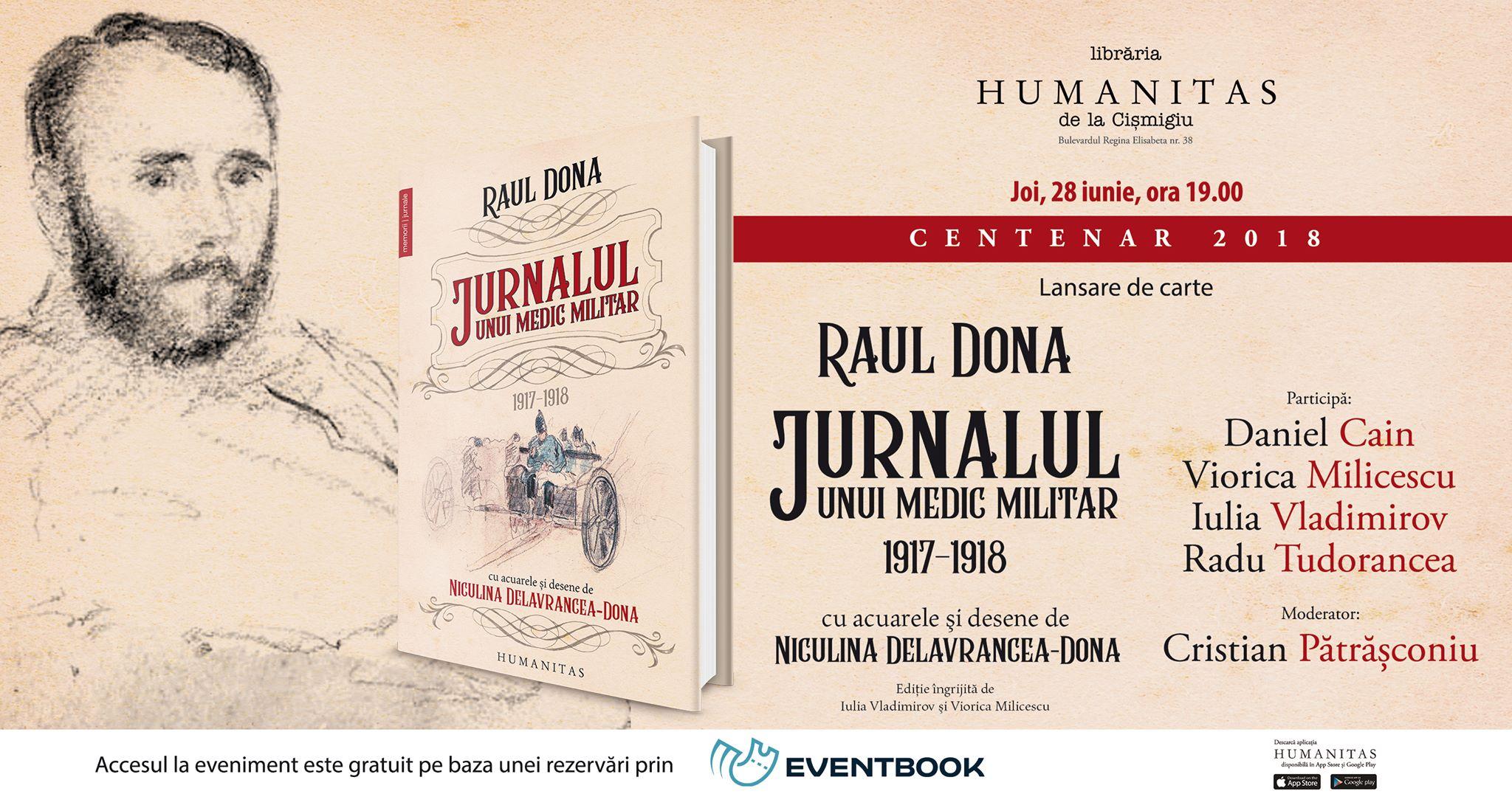 Despre jurnalul inedit al doctorului Raul Dona, 1917-1918