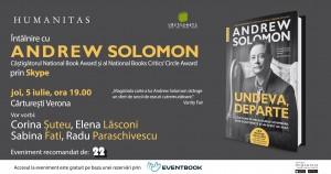 Întâlnire prin Skype cu Andrew Solomon la Cărturești Verona