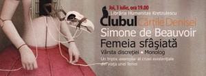 Clubul Cărțile Denisei - Simone de Beauvoir