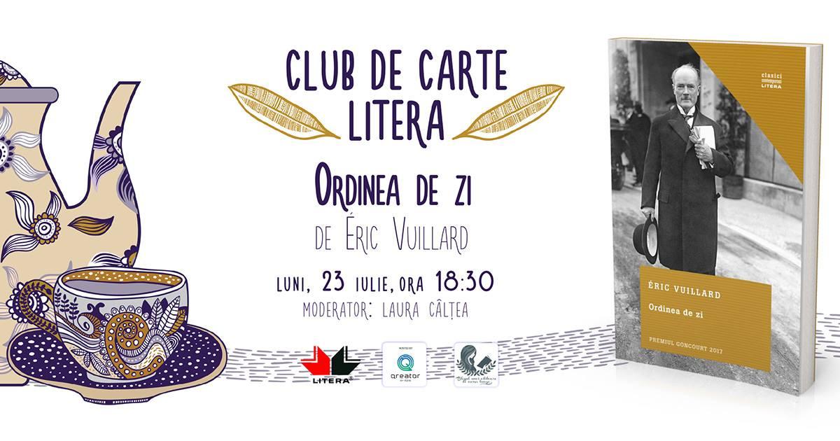 """Club de carte Litera #44: """"Ordinea de zi"""", de Éric Vuillard"""