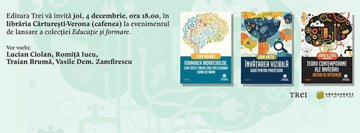 """Editura Trei lansează colecția """"Educație și formare"""""""