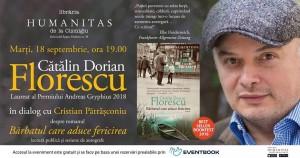 Eveniment Cătălin Dorian Florescu la Humanitas Cișmigiu