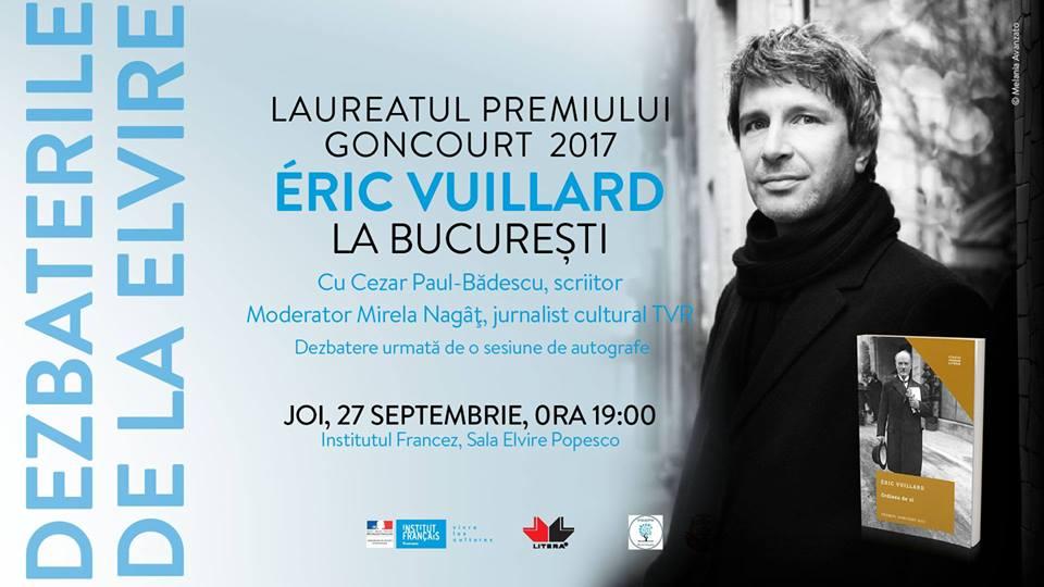 "Éric Vuillard la ""Dezbaterile de la Elvire"""