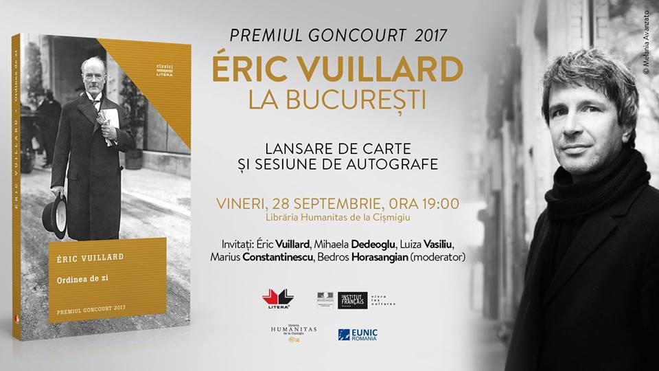 Éric Vuillard - Premiul Goncourt - la București