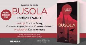 """Lansare """"Busola"""", de Mathias Enard"""