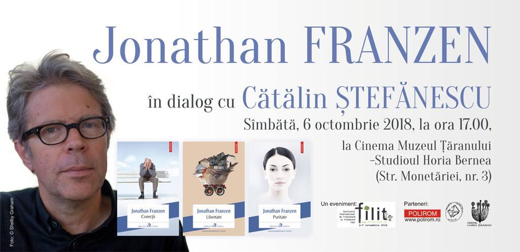 Jonathan Franzen în dialog cu Cătălin Ștefănescu