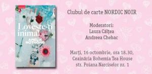"""Clubul de carte Nordic Noir: """"Lovește-ți inima"""", de Amélie Nothomb"""