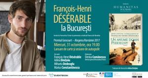François-Henri Désérable la București
