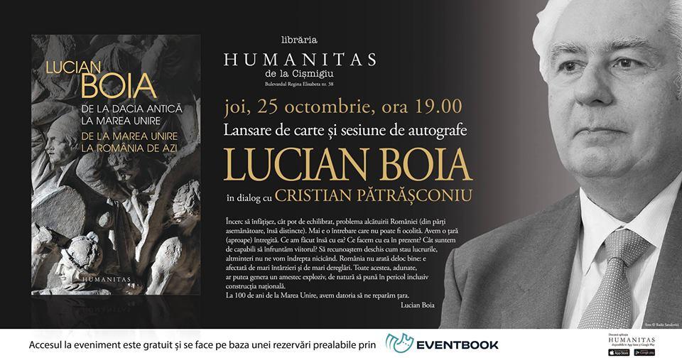 Întâlnire cu Lucian Boia despre noua sa carte