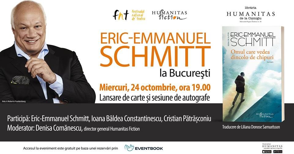 Eric-Emmanuel Schmitt la București. Lansare de carte