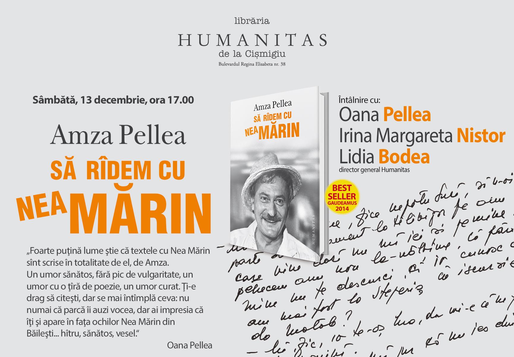 """Lansarea volumului """"Să râdem cu Nea Mărin"""" de Amza Pellea"""