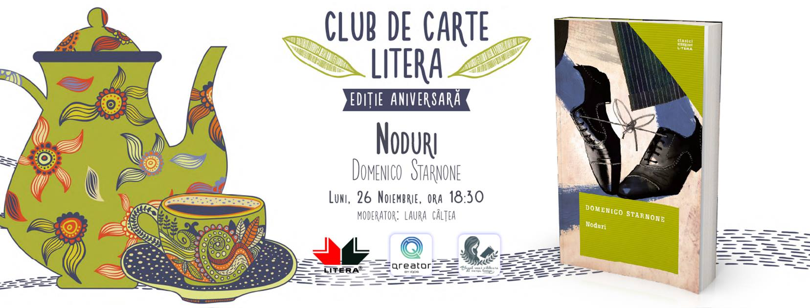 "Club de carte aniversar #48: ""Noduri"", de Domenico Starnone"