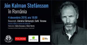 Jón Kalman Stefánsson la Café Verona București